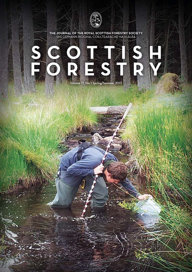 Scottish Forestry cover Spring 2017